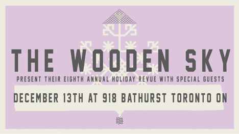 DEC 13 • The Wooden Sky Returns to the 918 Stage For Their Annual Holiday Fundraiser Concert in Support of Romero House
